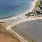 Vue aérienne de la pointe de Penvins - camping la Grée Penvins